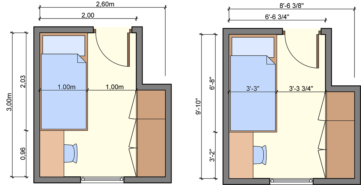 Amazing Design Of The Simple Floor Plans With Two Kind Of The Planner With Different Bed Size Ideas