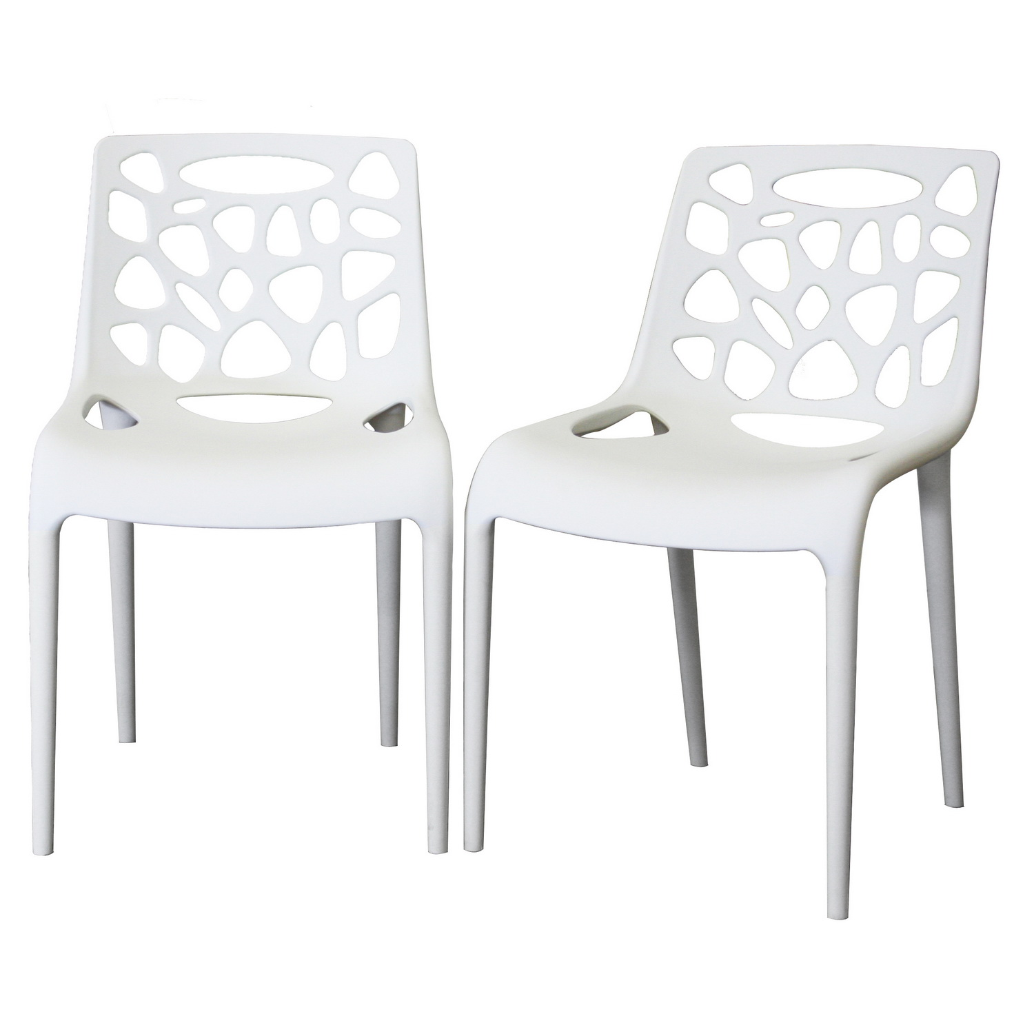 Amazing Design Of White Plastic Chairs Design Ideas Using Unique Back and Seat