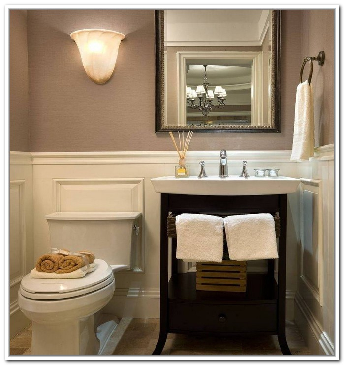 Amusing Design Of The Pedestal Sink Cabinet With Brown Wooden Cabinets And White Sink And White Toilets Ideas