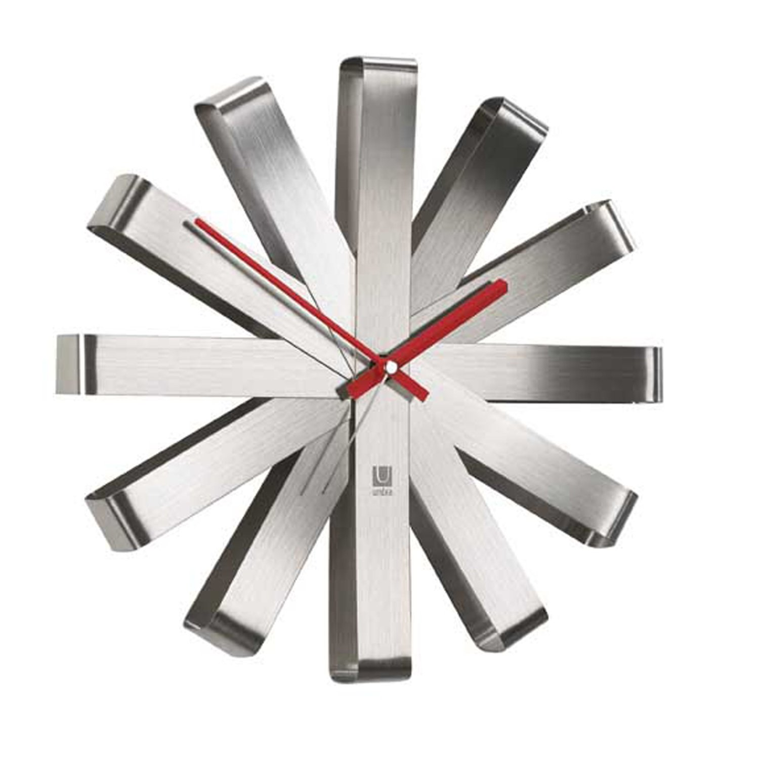 Amusing Design Of The Wall Clocks Ideas With Silver Color Ideas With No Number Added With Red Clock Point Ideas