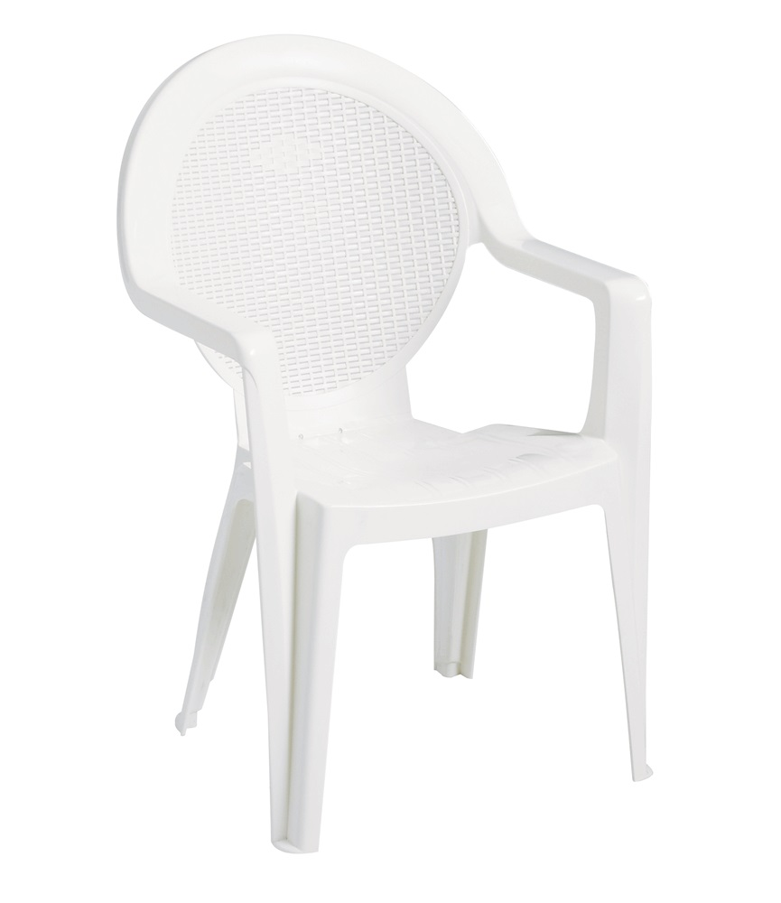 Angelic Back and Comfortable Handle Arm also Seat For Plastic Chair