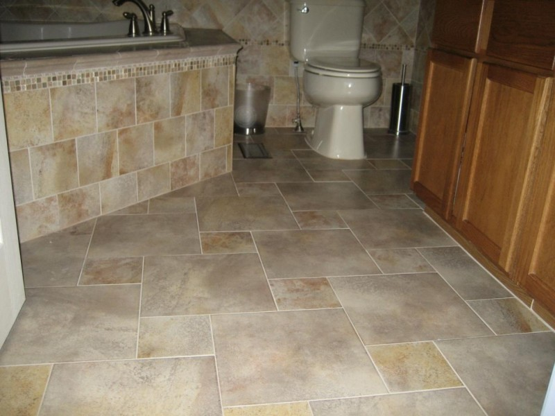 Angelic Granite Bathroom Tile Floor and Wall Decor Plus Toilet