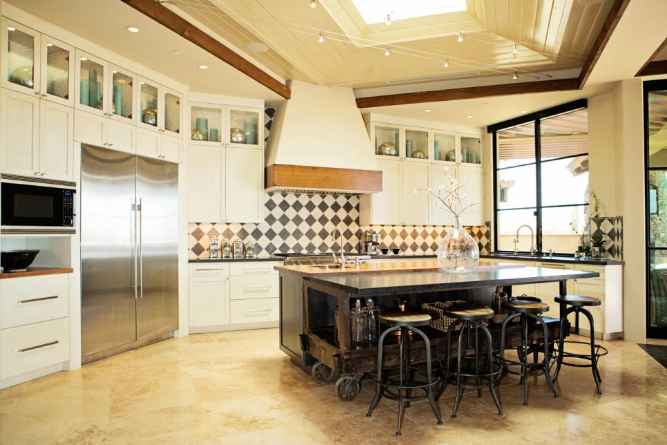Appealing Kitchen Island On Wheels With Modern Cabinet and Bar Table also Chairs