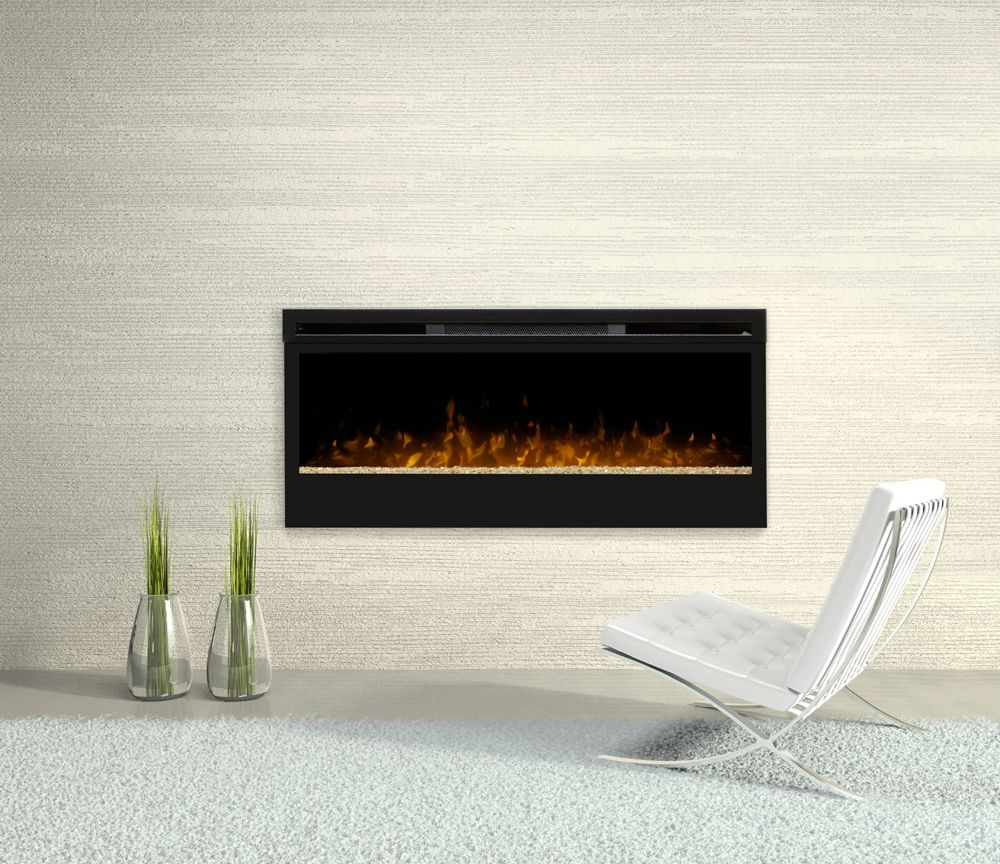 Astonishing Design Of The Electric Fireplace With White Wall Added With White Rugs And White Floor Ideas