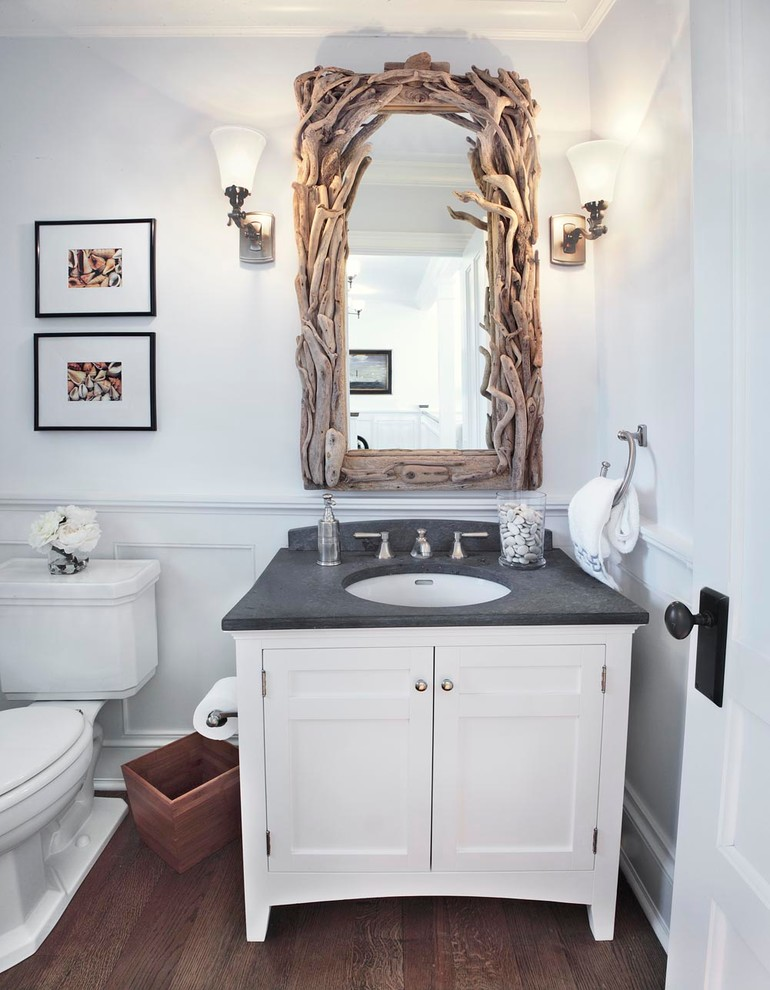 Astonishing Design Of The Framed Bathroom Mirrors With White Wooden  Cabinets With Black Countertops Ideas