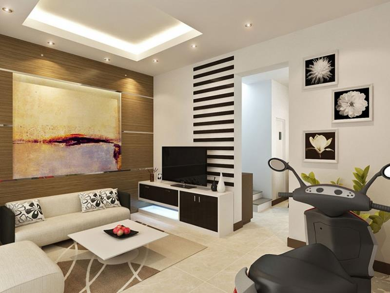 Astonishing Design Of The Small Living Room With White Wall Added With  White Sofa And White Part 28