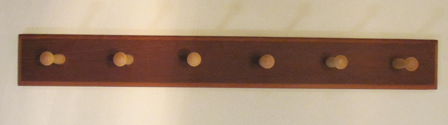 Merveilleux Astonishing Design Of The Wall Mount Coat Rack With Brown Wooden Hook Put  At The White