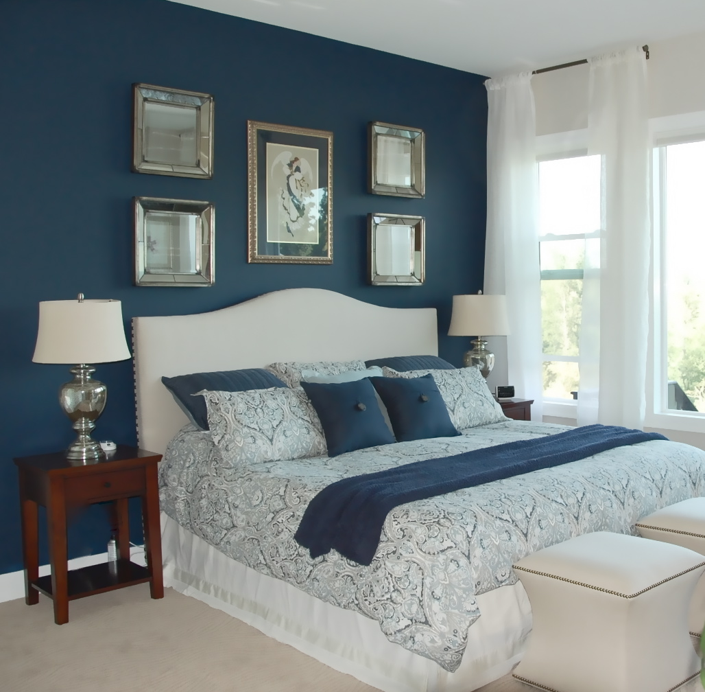 How to apply the best bedroom wall colors to bring happy - Blue bedroom paint ideas ...