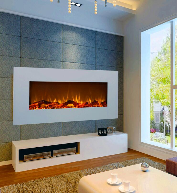 Astounding Design Of The Electric Fireplace With Grey Wall Ideas Added With White Wall And White Cabinets Ideas