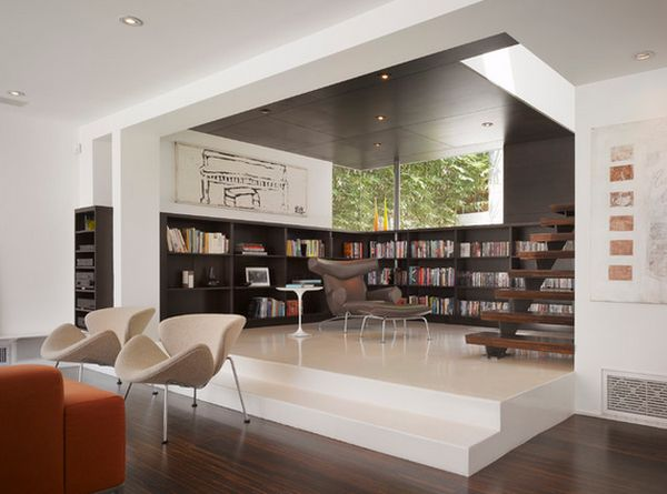 Astounding Design Of The Home Office Areas With Brown Wooden Floor Ideas  Added With White Wall