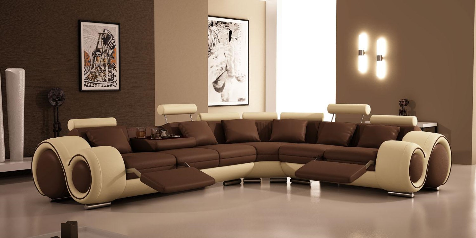 Astounding Design Of The Paint Color Of Living Room Areas With Modern Sofa Added With Brown Wall Ideas
