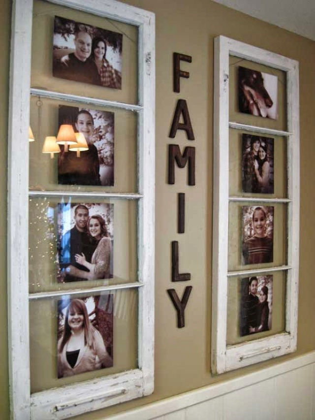 Astounding Design Of The Photo Wall Ideas Wit Two Part Of White Frame Pics Ideas On The Beige Wall Ideas
