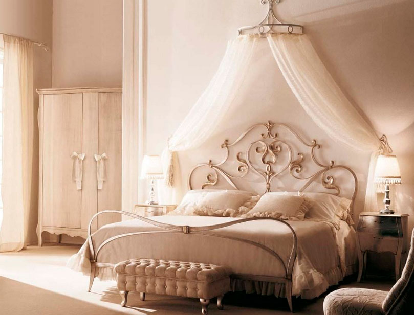 Astounding Design Of The Princess Canopy Bed With Grey Bed And White Curtain Added With White Wall And Wardrobe Ideas