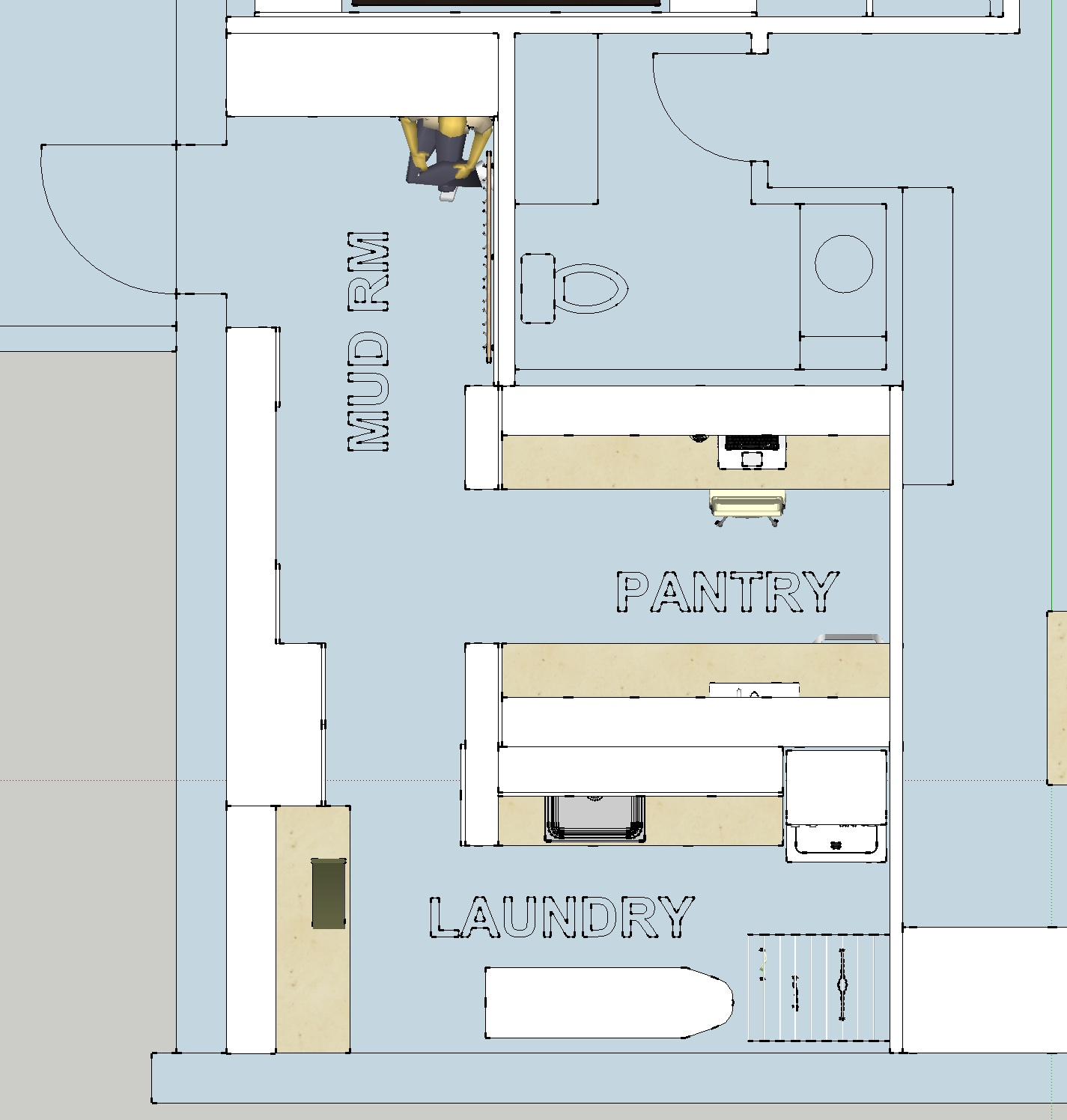 Astounding Design Of The Simple Floor Plans With Laundry And Pantry Areas  Added With Mud Rm