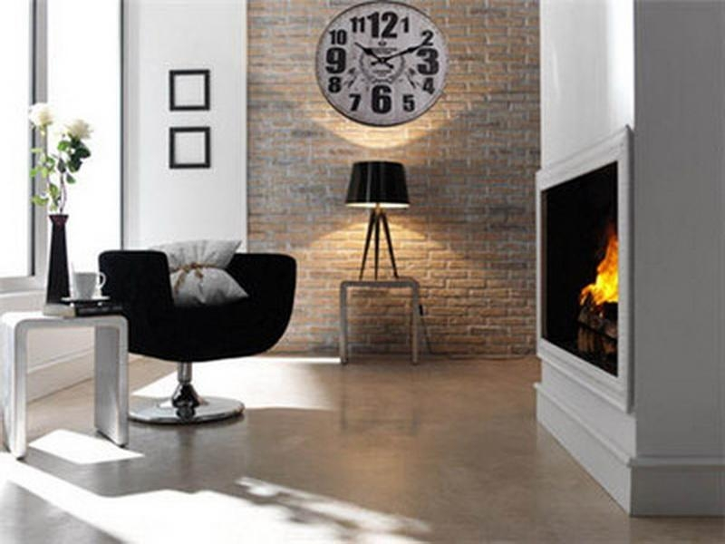 Astounding Design Of The Wall Clocks Ideas Put On The Brown Wall Added With White Wall And Black Table Lamp Ideas