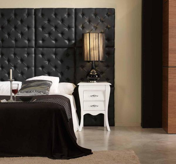 Attractive Tufted Wall Paneling Ideas For Bedroom also Lavish Table Lamp