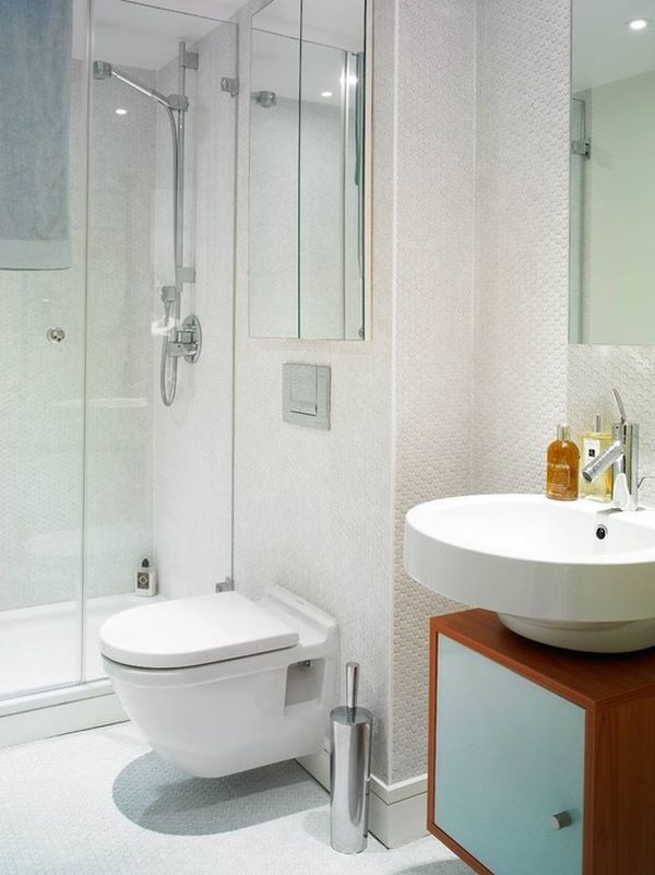 Awesome Bathroom Decoration Ideas With Showering Area also Sink