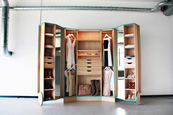Awesome Design Of The Closet Ideas With Brown Wooden Shelves And Storage Added With White Wall