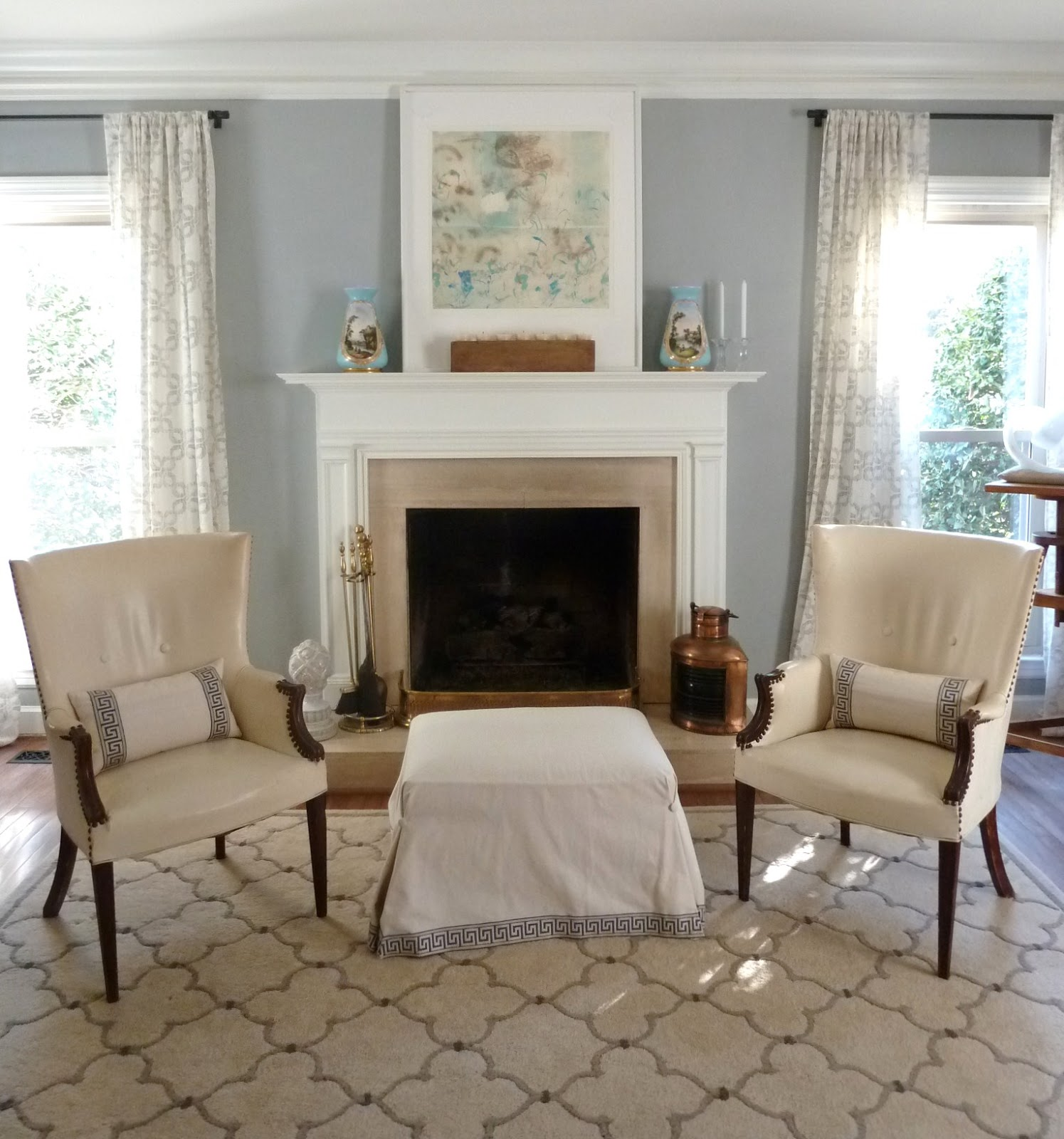 Awesome Design Of The Living Room Paint Color With Grey Wall Added With White Ceiling Ideas Added With White Fireplace Mantels Ideas