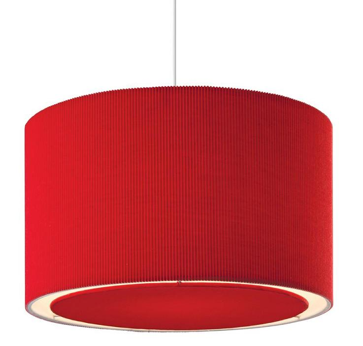 Awesome Design Of The Red Pendant Lamp With Simple Rounded Shape Added With White Color At The Inside Ideas