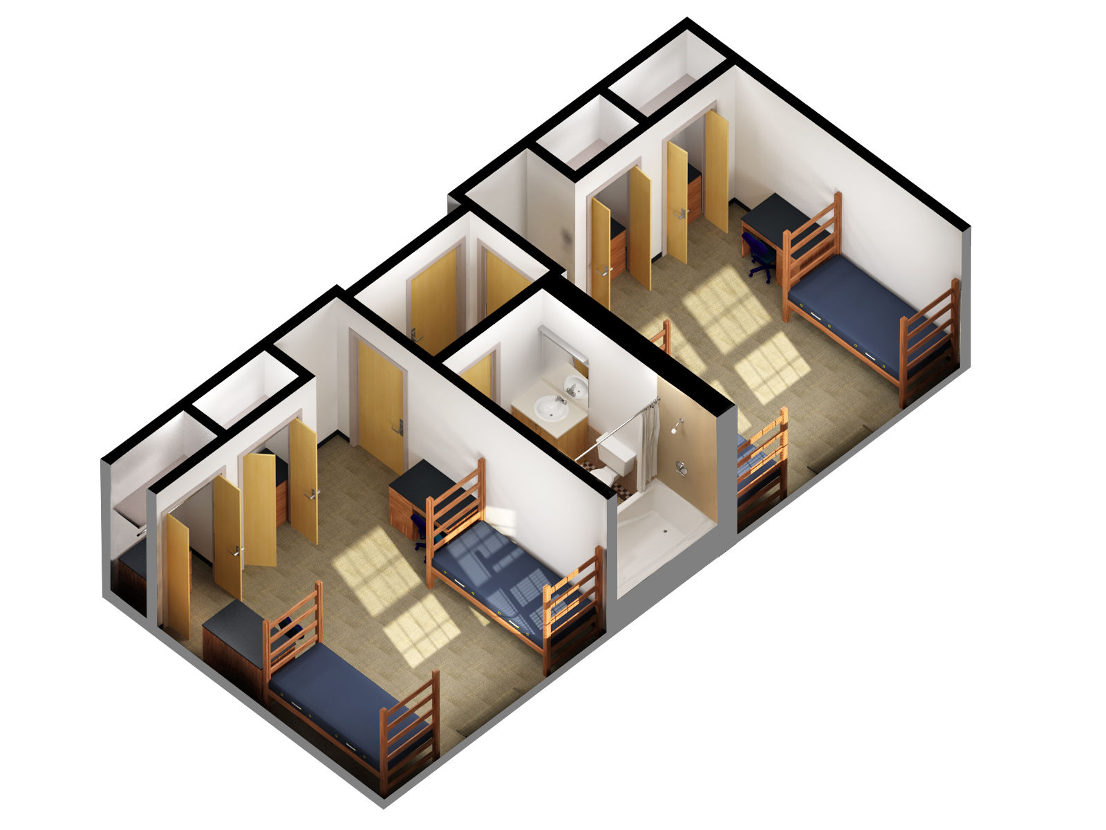 Awesome Design Of The Simple Floor Plans With Two Rooms Added With One Single Bathroom