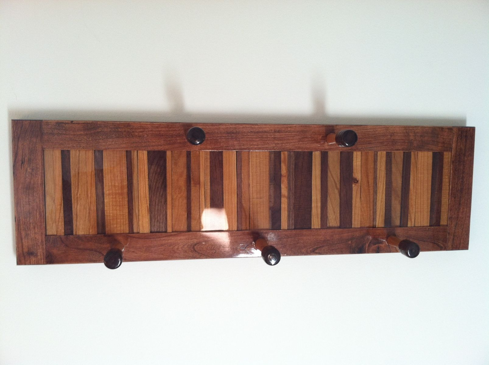 Awesome Design Of The Wall Mount Coat Rack With Brown Oak Wooden Color Materials Added With Some Hanger