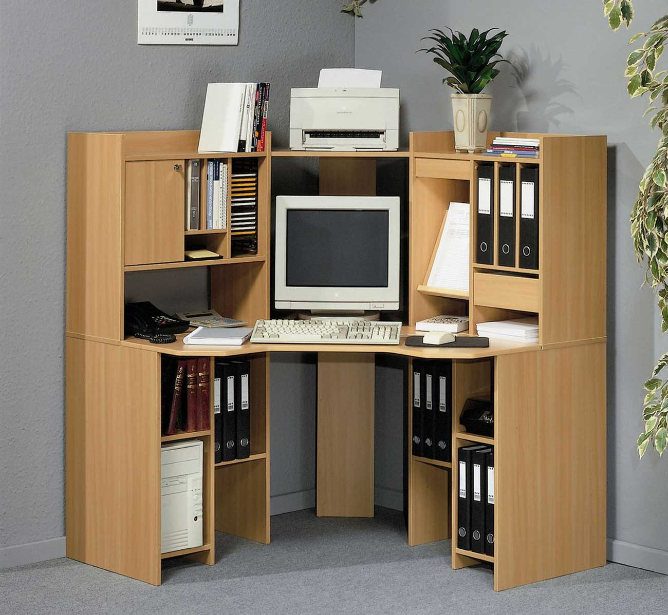 corner office desk wood awesome home computer desks with chic office desk hutch