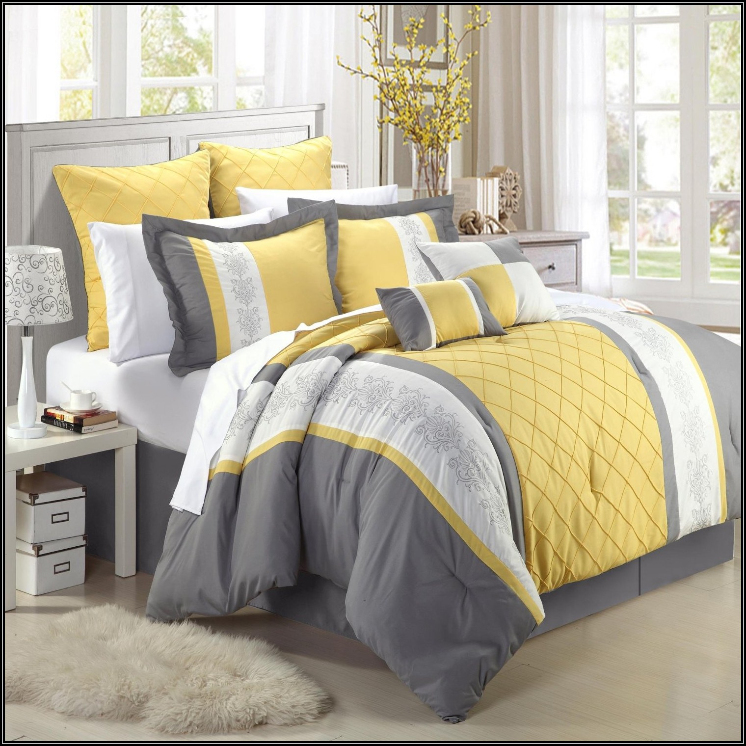 Gray And Yellow Bedroom: Some Ideas Of The Stylish Decorations And Designs Of The
