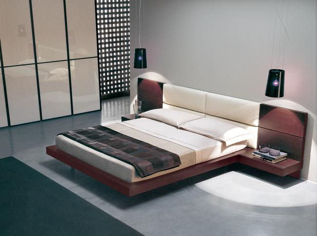 Awful Bedroom Decoration Ideas Using Modern Japanese Bed also Wall Lamps