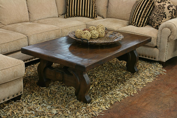 Beauteous Living Space  Furniture Using Dark Wooden Coffee Table also Sofa