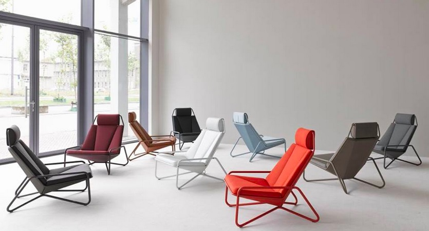 Beautiful Design of Colorful Lounge Chair Ideas Using Leather Seat