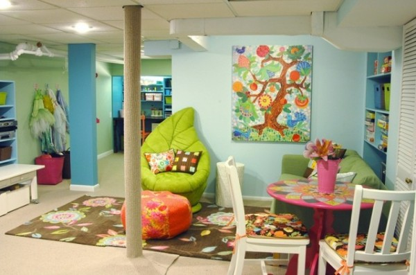 Superb Merveilleux Beautiful Interior Play Area For Kids With Sofa And Pink Table  Also White Chairs