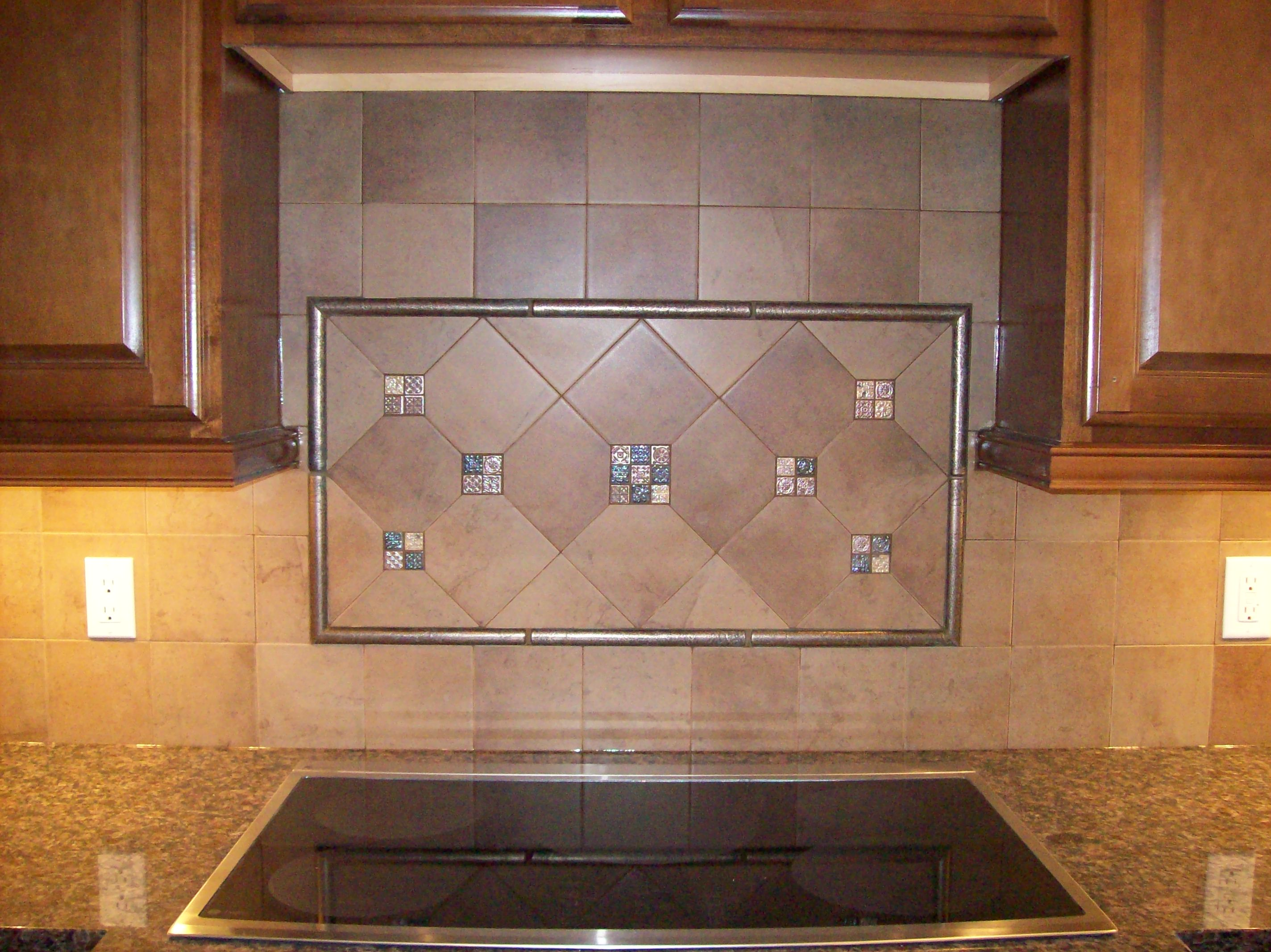 Beckoning Ceramic Back Splash Tile Also Granite Top Plus Induction Stove