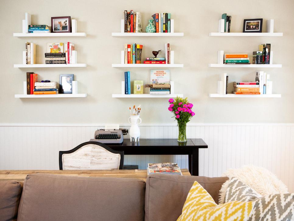 Beautiful living room shelves to perfect your own living Where to put a bookcase in a room