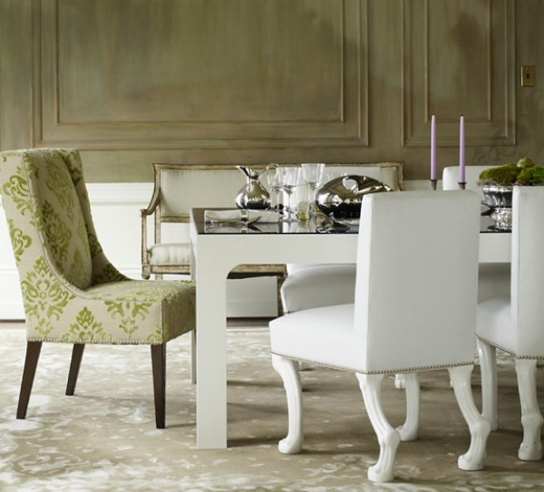 Best Chairs and Glass Table To Decorate Formal Dining Room