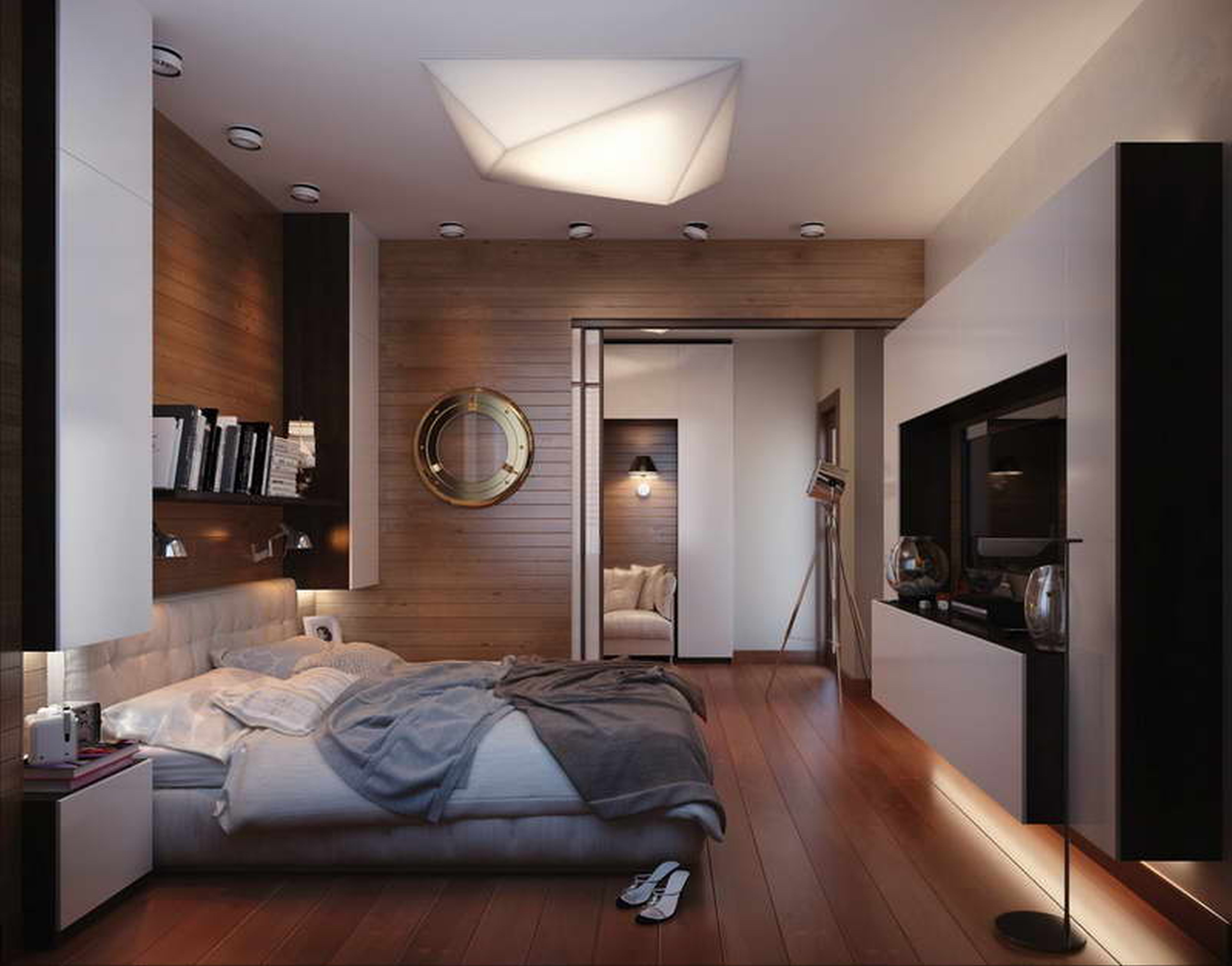 Captivating Ceiling Light Also Bed Under Mounted Book Shelve For Best  Bedroom