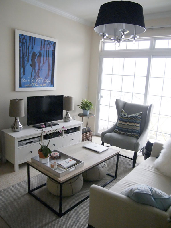 Captivatingg Family Room Using TV Cabinet also Rectangular Coffee Table and Chair