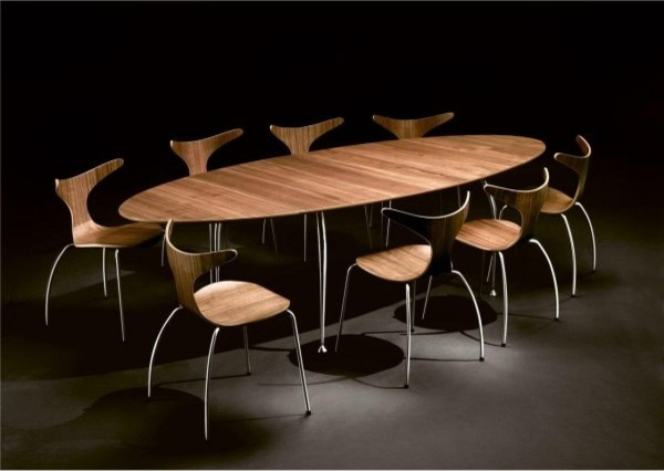 Charmant Contemporary Concept Of Unique Dining Tables In Oval Shape Design
