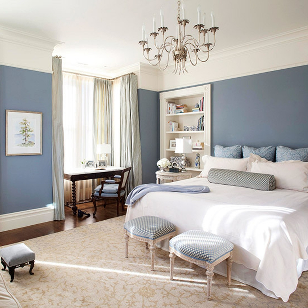 How to apply the best bedroom wall colors to bring happy - Cool room painting ideas ...