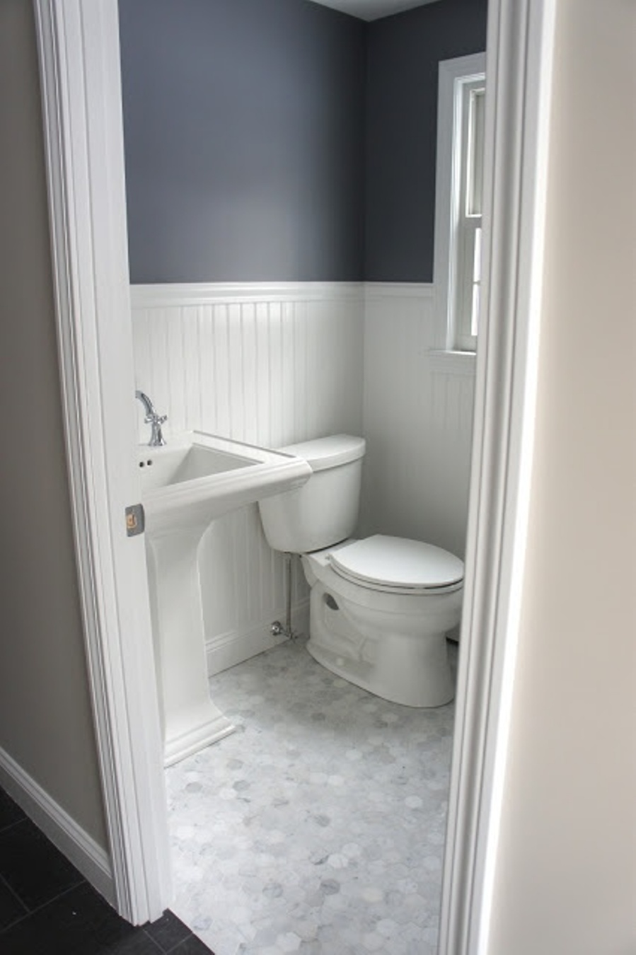 Cute Vanity Beside Toilet Also Grey And White Wall Paint For Small Bathroom  Floor Plans