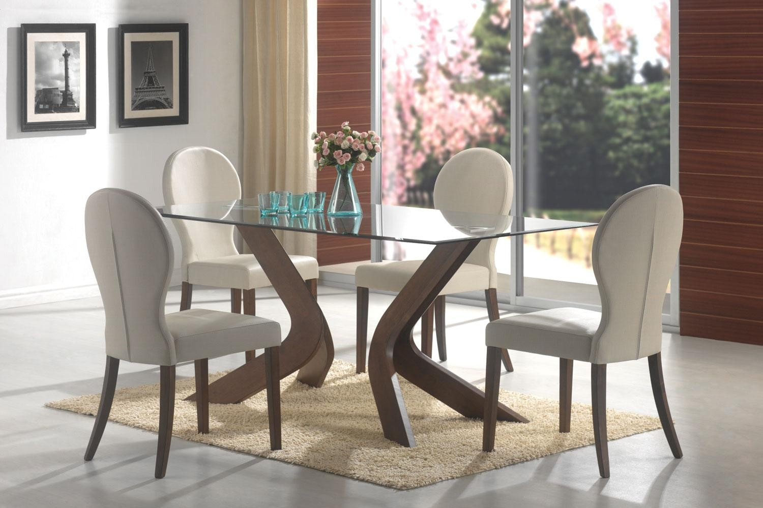 Choosing glass dining room tables for small space midcityeast dainty chair and glass dining room tables on smooth carpet dzzzfo