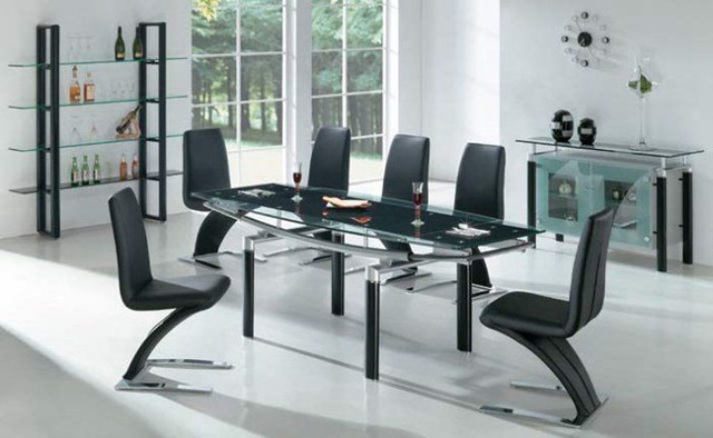 Dainty Chairs Design also Glass Dining Table For Modern Room
