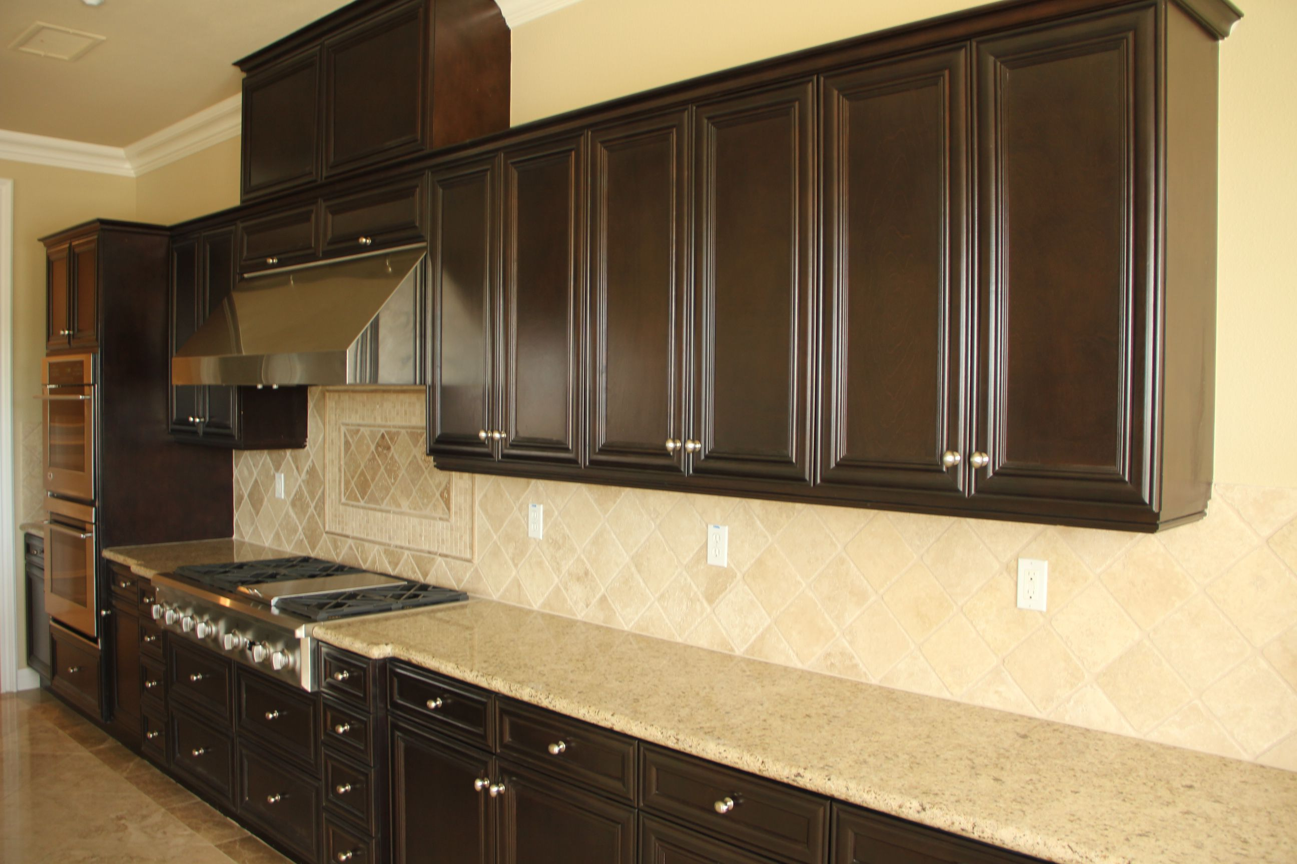 Delicate Interior Room With Sleek Cabinet also Kitchen Wall Tile