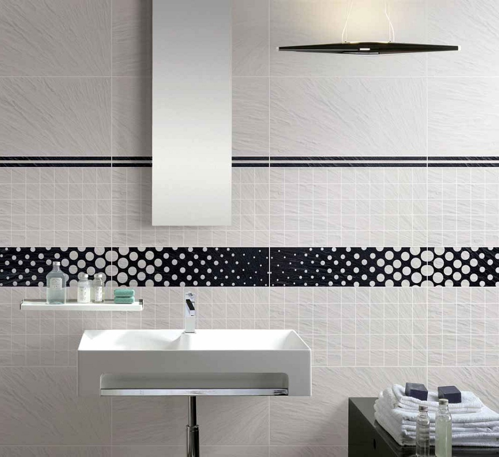 Superieur Delightful Wall Tile Designs Also Contemporary Vanity And Floating Storage