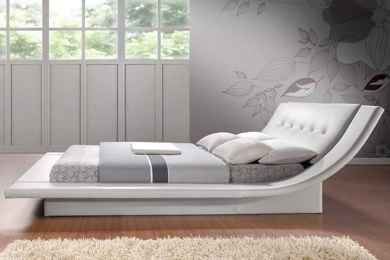 unique bed frames. Elegant Bedroom Decoration Ideas Using Curve Unique Bed Frames And Lush Wall R