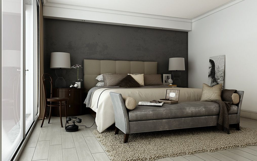 Charmant Fantastic Design Of The Bedroom Areas With Grey Wall And White Wall Ideas  Added With Grey