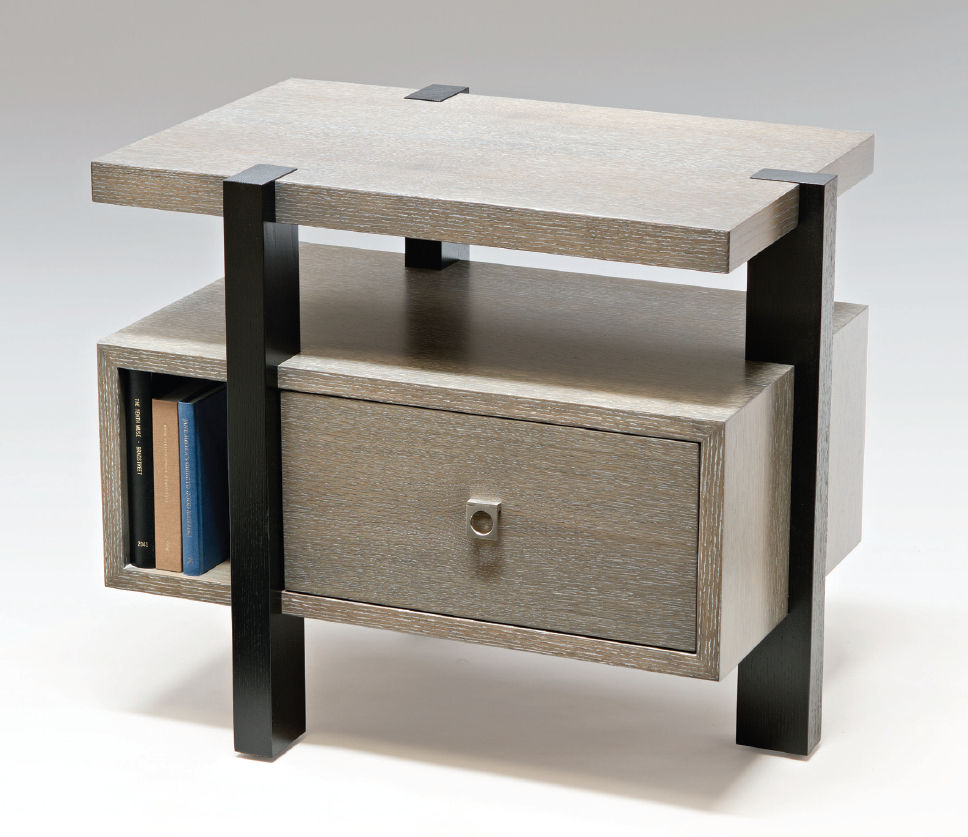 Fantastic Design Of The Bedroom Side Tables With Grey Wooden Table Ideas Added Black Shiny
