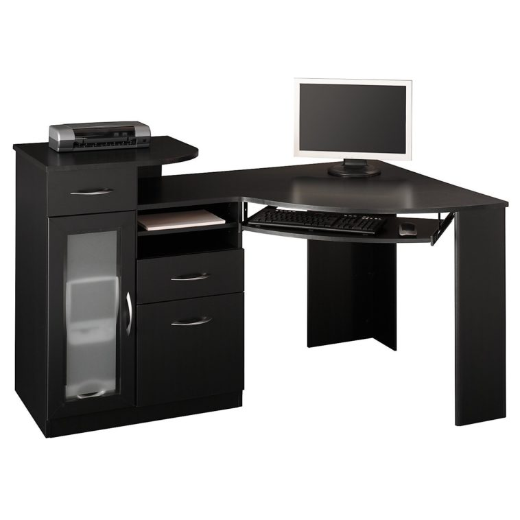 Fantastic Design Of The Black Desk With Drawers With Some Drawers Added  With Cabinets Ideas For