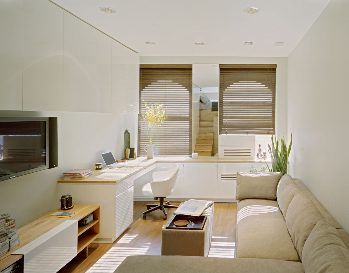 Fantastic Design Of The Small Apartment Design With White Wall Ideas Added With L Shape Beige Fabric Sofa Ideas