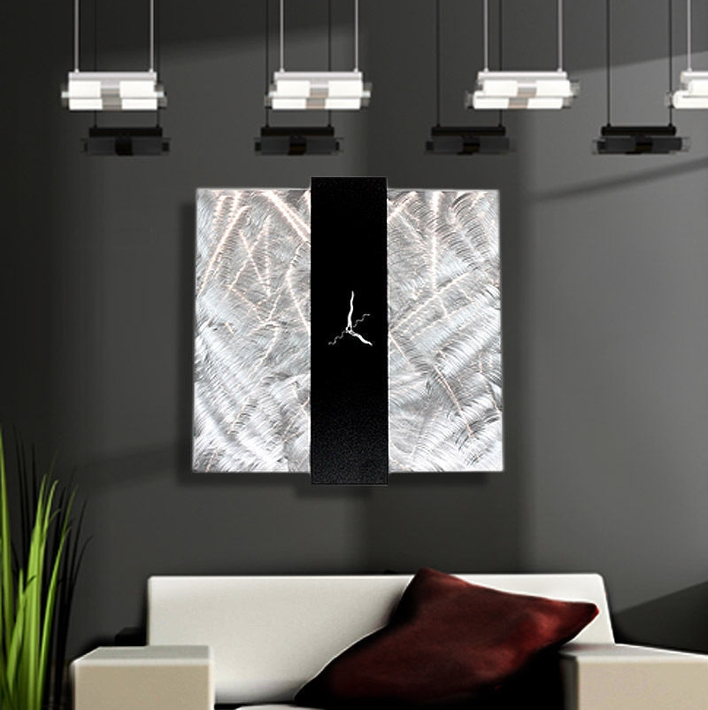 Fantastic Design Of The Wall Clocks Ideas With Big Size Also Square Shape Ideas With Grey Wall Ideas With White Sofa